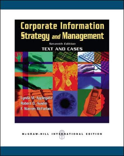 9780071244190: Corporate Information Strategy and Management: Text and Cases (Paperback)