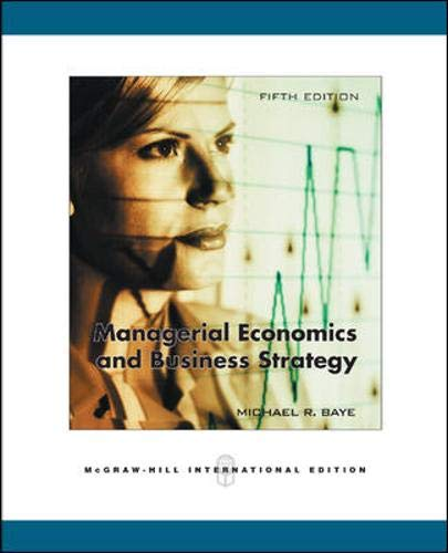 9780071244213: Managerial Economics & Business Strategy + Data Disk