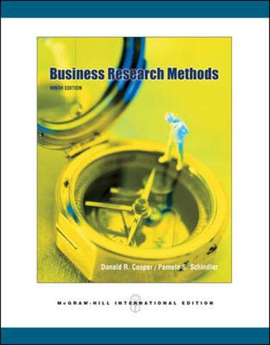 9780071244305: Business Research Methods (McGraw-Hill/Irwin Series. Operation)