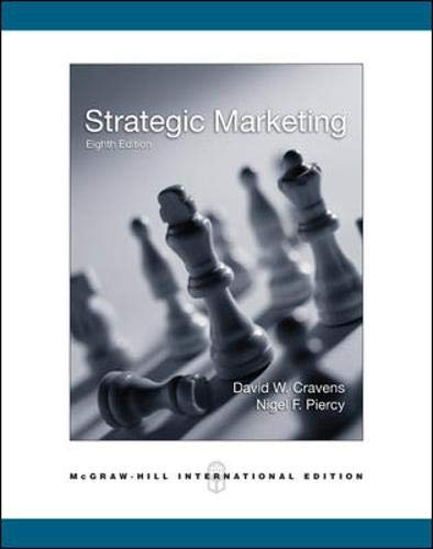 9780071244329: Strategic Marketing