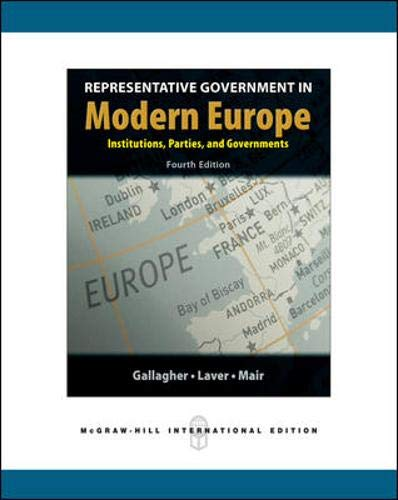 9780071244435: Representative Government in Modern Europe. Michael Gallagher, Michael Laver & Peter Mair