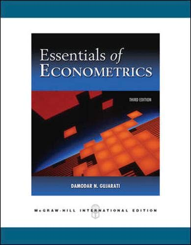 9780071244480: Essentials of Econometrics