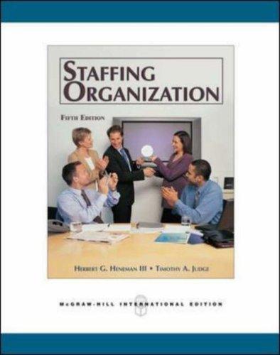 9780071244503: Staffing Organizations