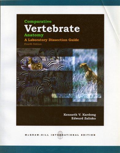 9780071244565: Comparative Vertebrate Anatomy: A Laboratory Dissection Guide