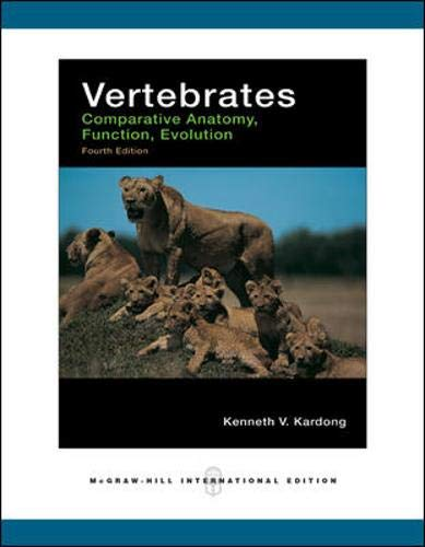 9780071244572: Vertebrates: Comparative Anatomy, Function, Evolution
