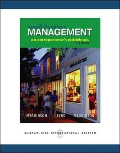 9780071244640: Small Business Management: An Entrepreneur's Guidebook