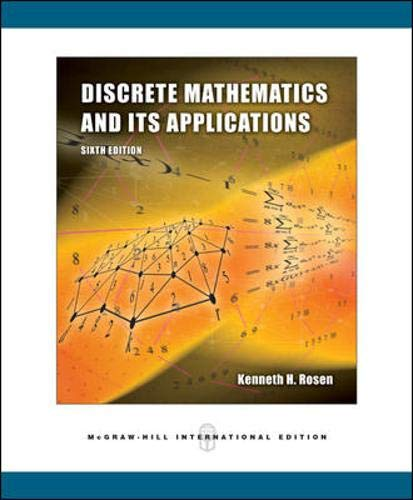 9780071244749: Discrete Mathematics and Its Applications International Version