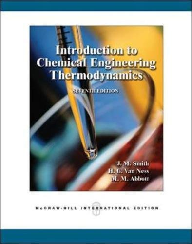 9780071247085: Introduction to Chemical Engineering Thermodynamics (Int'l Ed)