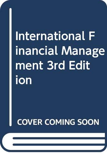 9780071247153: International Financial Management 3rd Edition