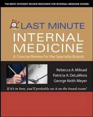 9780071248402: Last Minute Internal Medicine