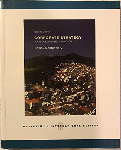 9780071249324: Corporate Strategy: A Resource-Based Approach, 2nd Ed., International edition (Corporate Strategy)