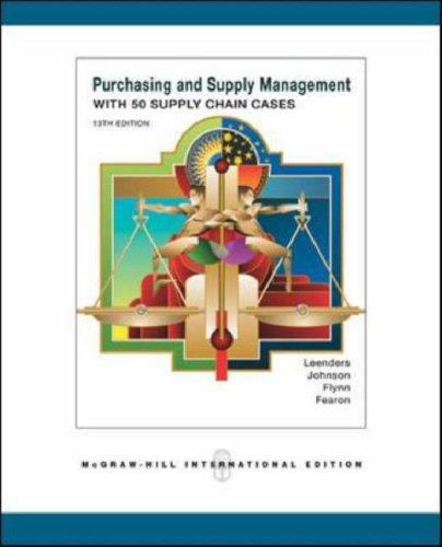 9780071249669: Purchasing Supply Management