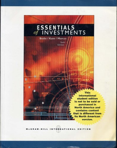 9780071251433: Essentials of Investments International Student Edition