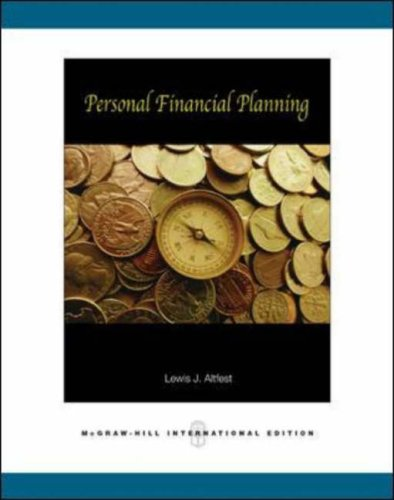 9780071252935: Personal Financial Planning