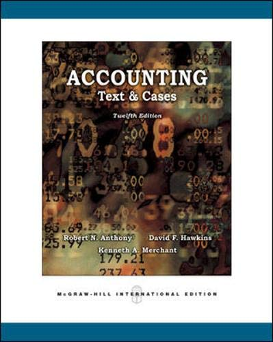 9780071254090: Accounting: Texts and Cases