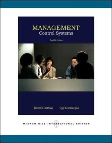9780071254106: Management Control Systems