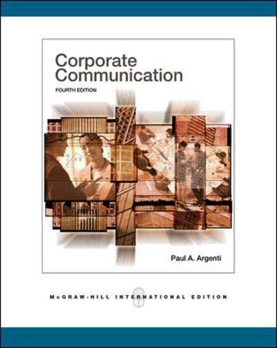 9780071254113: Corporate Communication