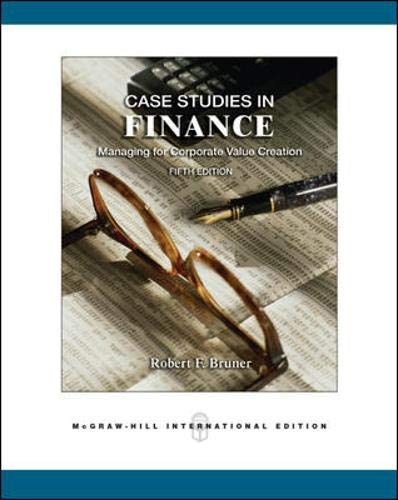 9780071254175: Case Studies in Finance: Managing for Corporate Value Creation