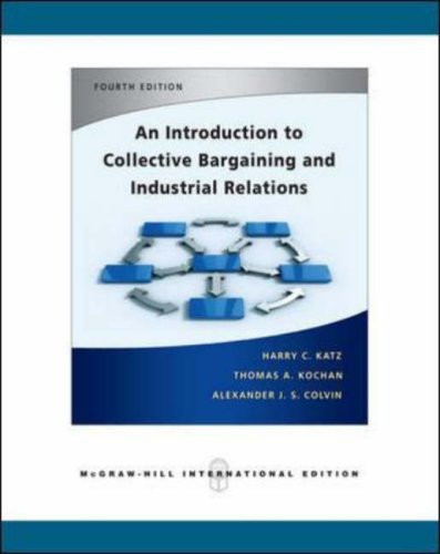 9780071254250: An Introduction to Collective Bargaining and Industrial Relations