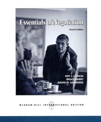 9780071254274: Essentials of Negotiation