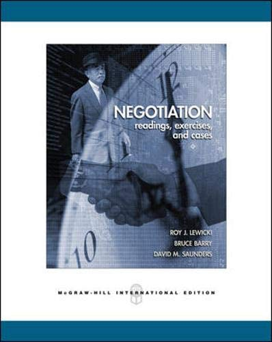 9780071254281: Negotiation: Readings, Exercises, and Cases