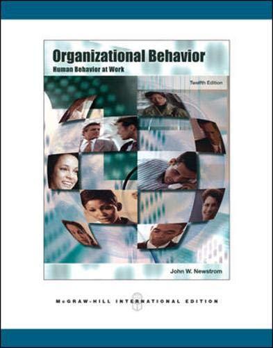9780071254304: Organizational Behavior: Human Behavior at Work