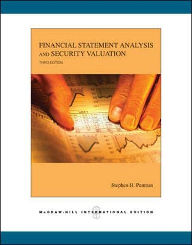 9780071254328: Financial Statement Analysis and Security Valuation