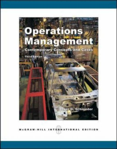 9780071254366: Operations Management: With Student CD-ROM: Contemporary Concepts and Cases