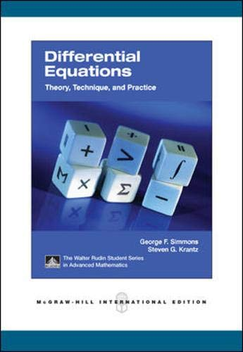 9780071254373: Differential Equations: Theory, Technique, and Practice. George F. Simmons and Steven G. Krantz