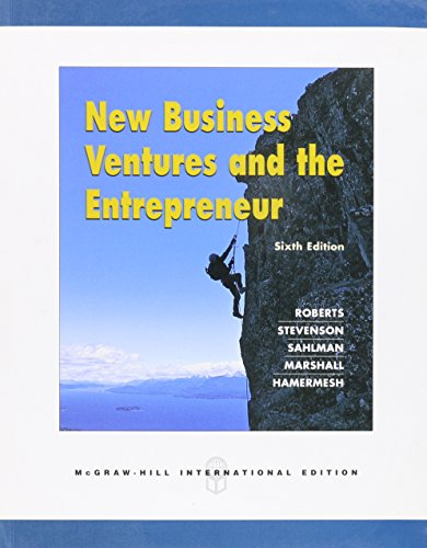 9780071258128: New Business Ventures and the Entrepreneur Sixth International Paperback Edition