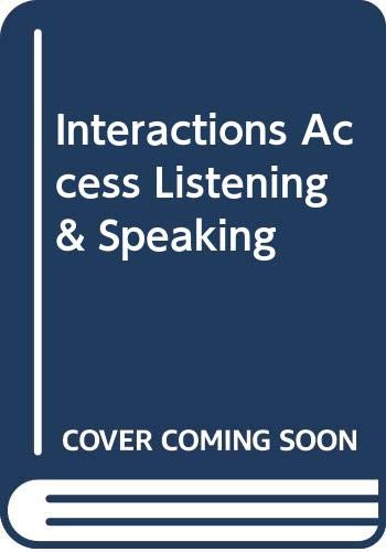 9780071258142: Interactions Access Listening & Speaking