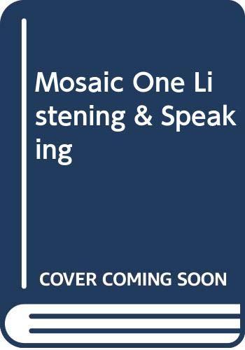 9780071258388: Mosaic One Listening & Speaking