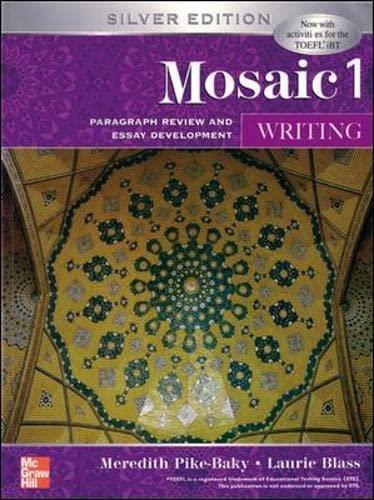 9780071258456: Interactions Mosaic Writing Student Book: Mosaic 1