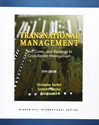 9780071259156: Transnational Management: Text, Cases and Readings in Cross-border Management