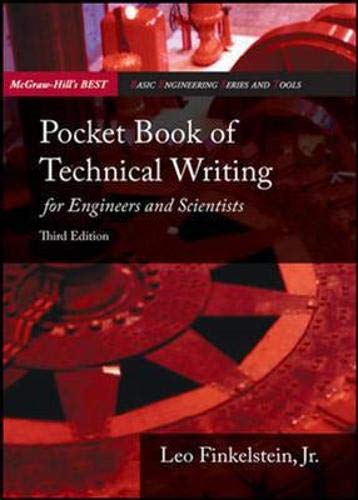 9780071259255: Pocket Book of Technical Writing for Engineers and Scientists. Leo Finkelstein, JR (Asia Higher Education Engineering/Computer Science General Engineering)