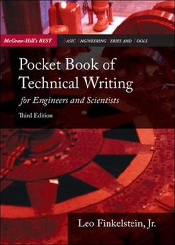 9780071259255: Pocket Book of Technical Writing for Engineers and Scientists. Leo Finkelstein, JR