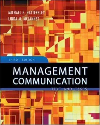 9780071259262: Management Communication: Principles and Practice