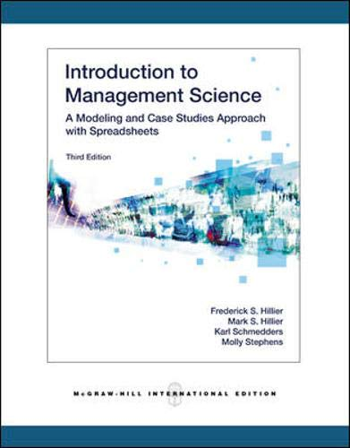 9780071259279: Introduction to Management Science: A Modeling and Case Studies Approach with Spreadsheets