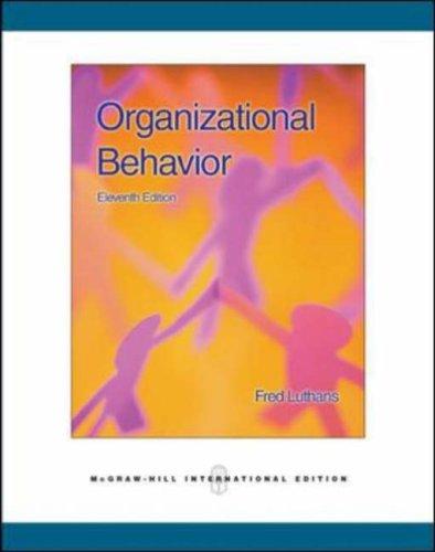 9780071259309: Organizational Behavior