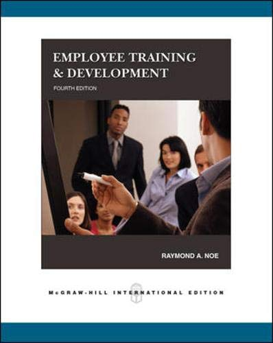 9780071259347: Employee Training & Development, 4th Edition