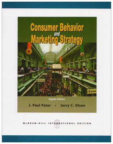 9780071259354: Consumer Behavior and Marketing Strategy