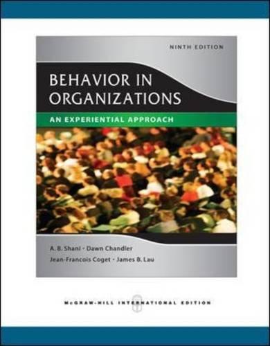 9780071259439: Behavior in Organizations