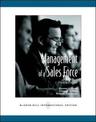 9780071259446: Management of a Sales Force (Int'l Ed)