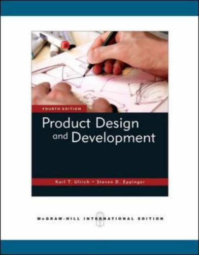 9780071259477: Product Design and Development, 4th Edition