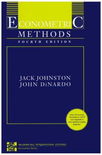 9780071259644: Econometric Methods