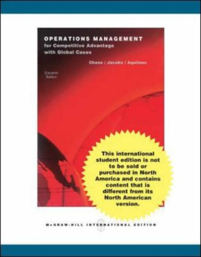 9780071260480: Operations Management for Competitive Advantage with Student DVD