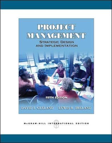 9780071262378: Project Management: Strategic Design and Implementation