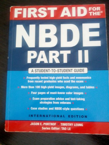9780071262811: First Aid for the Nbde Part II