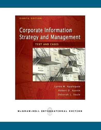 Corporate Information Strategy and Management: Text and: Applegate, Lynda M.;