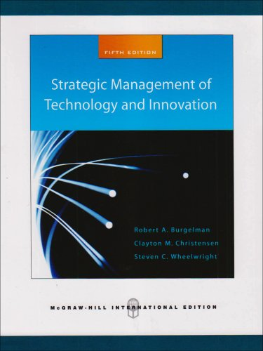 9780071263290: Strategic Management of Technology and Innovation (Int'l Ed)